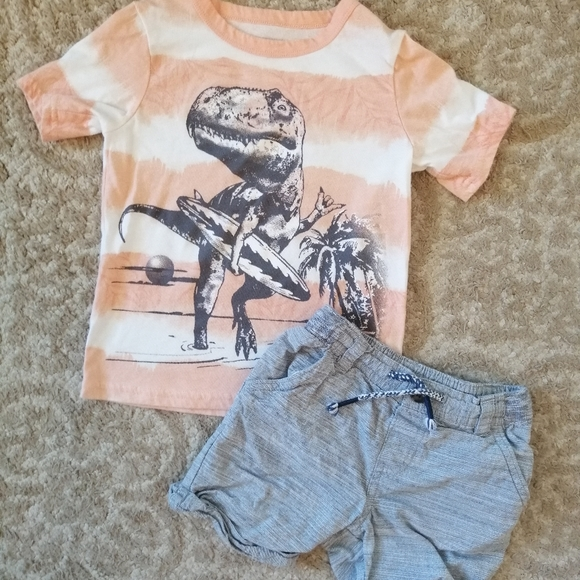 Matching Surf Dinosaur Outfit